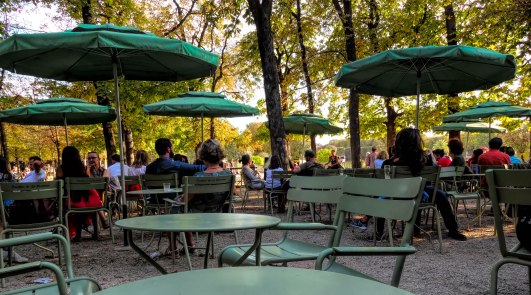 Early Evening Cafe, Le Jardin du Luxembourg