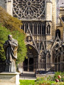 Pope John Paul outside Notre-Dame de Paris
